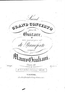 Grand Concerto for Guitar and Orchestra No.2, Op.36: Version for guitar and piano – parts by Mauro Giuliani