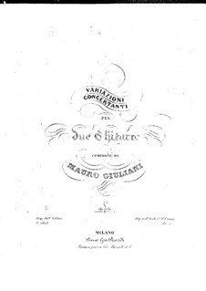 Concert Variations for Two Guitars, Op.130: Parts by Mauro Giuliani