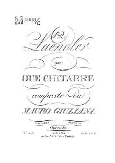 Twelve Ländler for Two Guitars, Op.80: Twelve Ländler for Two Guitars by Mauro Giuliani