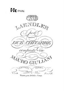 Twelve Ländler for Two Guitars, Op.94: Twelve Ländler for Two Guitars by Mauro Giuliani