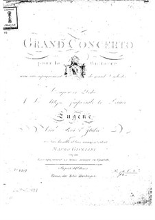 Concerto for Guitar and Orchestra No.1, Op.30: Parts by Mauro Giuliani