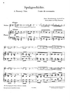 No.19 A Nursery Tale: Arrangement for violin and piano by Pyotr Tchaikovsky