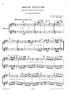 Suite No.1 in D Minor, TH 31 Op.43: No.4 Marche miniature, for two pianos – piano II part by Pyotr Tchaikovsky