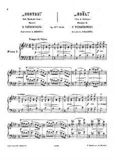 No.12 December (Christmas): Version for two pianos four hands – piano I part by Pyotr Tchaikovsky