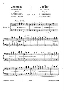 No.12 December (Christmas): Version for two pianos four hands – piano II part by Pyotr Tchaikovsky