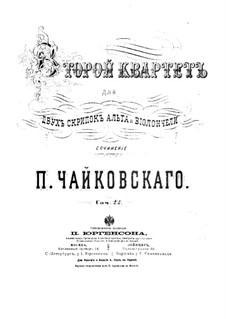 String Quartet No.2 in F Major, TH 122 Op.22: Violin I part by Pyotr Tchaikovsky