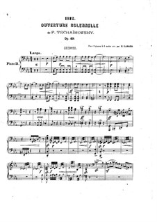 1812. Festival Overture, TH 49 Op.49: For two pianos eight hands – piano II part by Pyotr Tchaikovsky