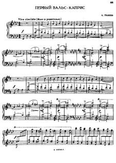 Two Waltz-Capricеs: Waltz-Caprice No.1 by Alexander Taneyev