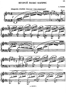 Two Waltz-Capricеs: Waltz-Caprice No.2 by Alexander Taneyev