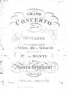 Grand Concerto for Guitar and Orchestra No.2, Op.36: Parts by Mauro Giuliani