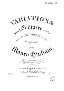 Variations on Themes from Concerto No.3: Variations on Themes from Concerto No.3 by Mauro Giuliani