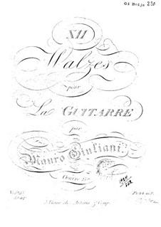 Twelve Waltzes, Op.21: Twelve Waltzes by Mauro Giuliani