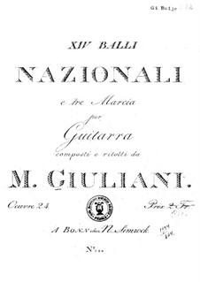 Fourteen Dances and Three Marches, Op.24: Fourteen Dances and Three Marches by Mauro Giuliani