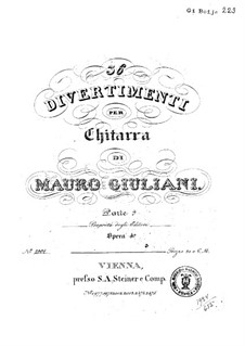 Divertissements for Guitar, Op.40: No.13-18 by Mauro Giuliani