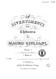 Divertissements for Guitar, Op.40: No.19-24 by Mauro Giuliani