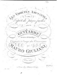 Les variétés amusantes ou dépôt de pieces faciles, Op.43: Complete set by Mauro Giuliani