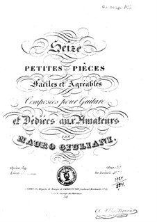 Sixteen Little Pieces for Guitar, Op.59: Complete set by Mauro Giuliani