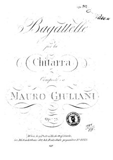 Ten Bagatelles, Op.73: Ten Bagatelles by Mauro Giuliani
