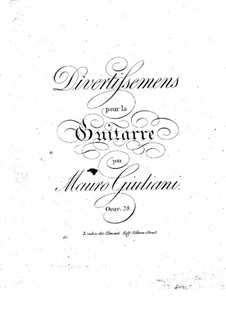 Divertissements for Guitar, Op.78: Divertissements for Guitar by Mauro Giuliani