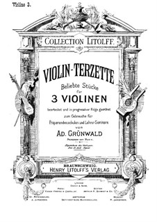 Violin-Terzette. Book III: Full score by Joseph Haydn, Wolfgang Amadeus Mozart, Franz Schubert, Felix Mendelssohn-Bartholdy, Carl Maria von Weber