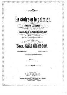 The Ceder and the Palm: Arrangement for piano four hands – parts by Vasily Kalinnikov