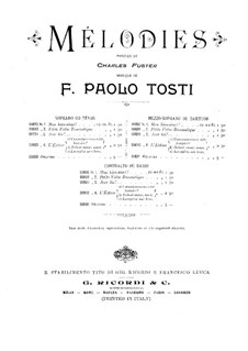 Mélodies for Voice and Piano: Mélodies for Voice and Piano by Francesco Paolo Tosti
