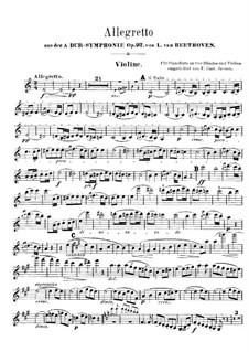 Movement II: Violin part by Ludwig van Beethoven