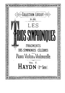 Fragments des symphonies célèbres: Volume II. Version for piano trio by Joseph Haydn