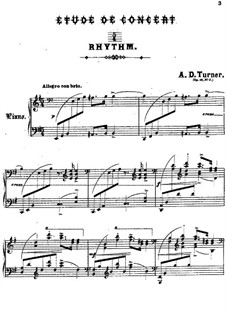 Concert Etude in E Minor, Op.16: Concert Etude in E Minor by Alfred Dudley Turner
