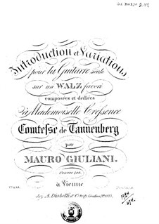 Introduction and Variations on Waltz for Guitar, Op.103: Introduction and Variations on Waltz for Guitar by Mauro Giuliani