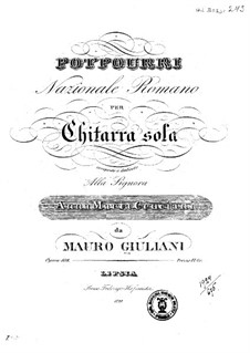 Potpourri Nationale Romano, Op.108: Potpourri Nationale Romano by Mauro Giuliani