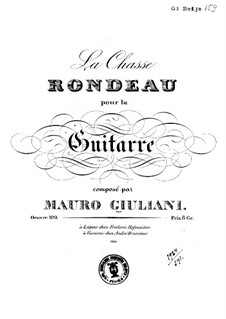 La chasse (The Hunt), Op.109: For guitar by Mauro Giuliani