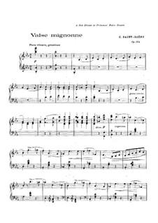 Valse mignonne, Op.104: For piano by Camille Saint-Saëns