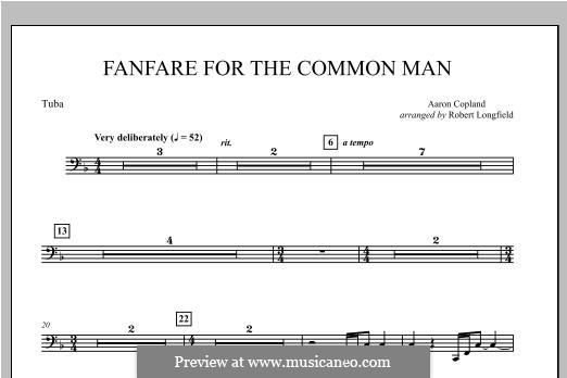 Fanfare for the Common Man: Tuba part by Aaron Copland