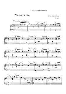 Valse gaie, Op.139: For piano by Camille Saint-Saëns