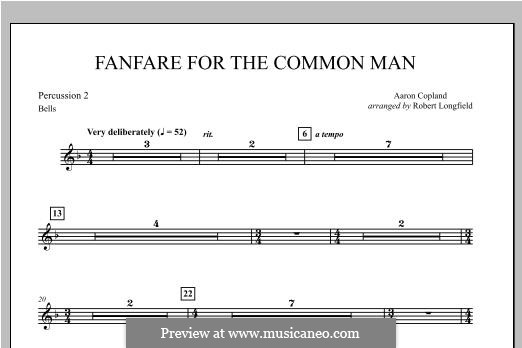 Fanfare for the Common Man: Percussion 2 part by Aaron Copland