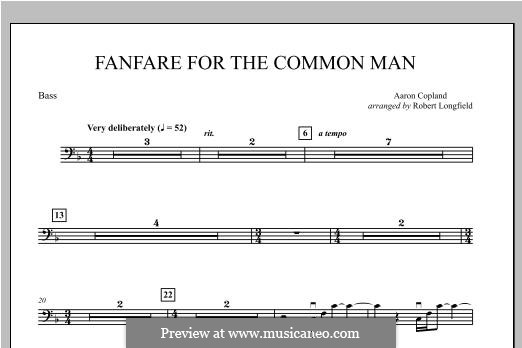 Fanfare for the Common Man: String Bass part by Aaron Copland