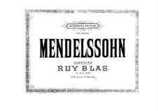 Ruy Blas, Op.95: For two pianos eight hands – piano I part by Felix Mendelssohn-Bartholdy