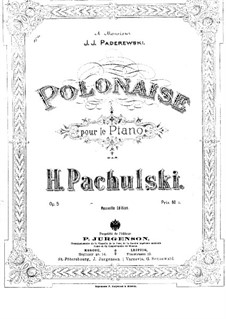 Polonaise, Op.5: For piano by Henryk Pachulski
