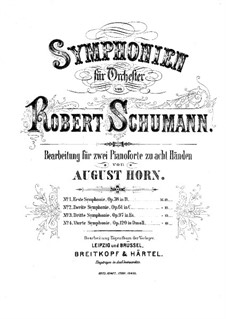 Symphony No.2 in C Major, Op.61: Version for two pianos eight hands – piano I part by Robert Schumann