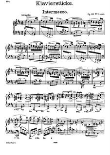 Four Pieces, Op.119: Complete set by Johannes Brahms