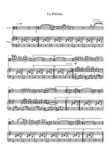 10 Easy Classical Pieces For Viola & Piano Vol.5: La Paloma by Wolfgang Amadeus Mozart, Franz Schubert, Antonín Dvořák, Georges Bizet, Georg Friedrich Händel, Giuseppe Verdi, Pyotr Tchaikovsky, Émile Waldteufel, Adolphe Adam, Sebastián Yradier