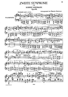 Symphony No.2 in C Major, Op.61: Version for piano by Robert Schumann