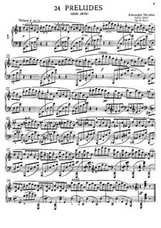 Twenty-Four Preludes, Op.11: Prelude No.1 by Alexander Scriabin