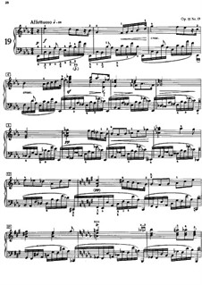 Twenty-Four Preludes, Op.11: Prelude No.19 by Alexander Scriabin