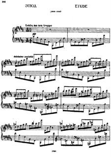 Etude in B Major: Etude in B Major by Alexei Stanchinsky