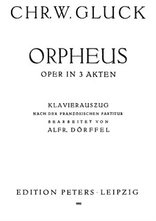 Complete Opera: Piano-vocal score by Christoph Willibald Gluck