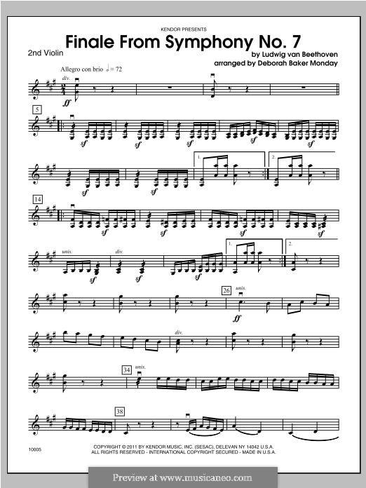 Movement IV: Violin 2 part by Ludwig van Beethoven