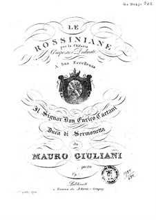 Rossiniana No.3, Op.121: Rossiniana No.3 by Mauro Giuliani