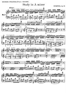 Twenty-Five Etudes, Op.70: Etude No.3 n A Minor by Georges Jean Pfeiffer